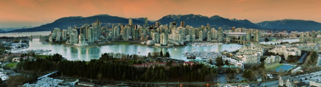 Vancouver BC looking northward. | January 2013