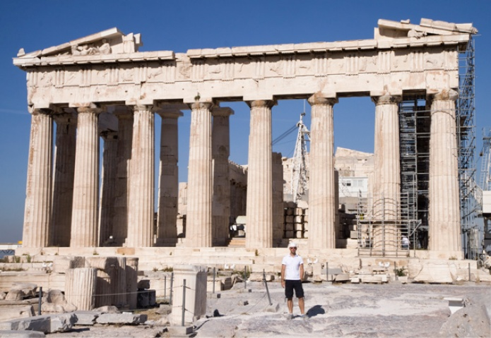 Ty explores in early morning at the Acropolis | Athens GR